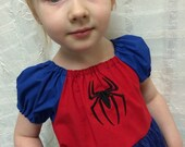 Spiderman Play Dress - 3t - 8 girls - Product ID #SMPD300