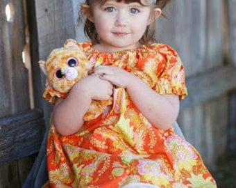 Damask dress, Girl's Easter dress, Summer dress, Spring dress, infant dress, toddler dress, Bohemian dress, sizes Newborn through  6X