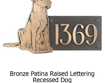 Labrador Dog Address Plaque 18x12 inches made in the USA by Atlas Signs and Plaques