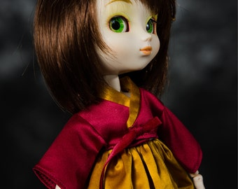 Red and Gold Han Bok Korean Traditional dress for Pullip or Thin Yo-SD