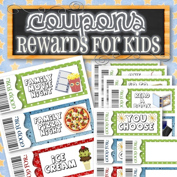 Reward/Gift Coupons for Kids