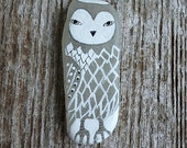 LARGE Beach Glass Owl - Totem, Spirit Animal, Animal Medicine, Wise, Integrity, Calm, Peace, Power, Meditative, Honest, Wild Nature, Inner