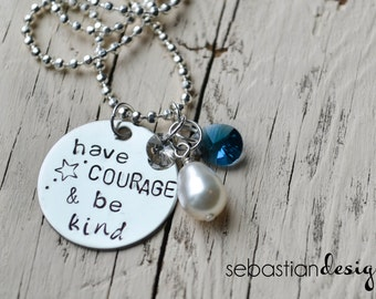 Have Courage and Be Kind Disney Cinderella Necklace--New Release Special Price