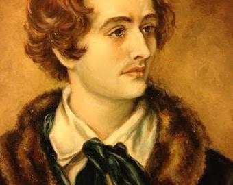 Print - Poet John Keats Portrait
