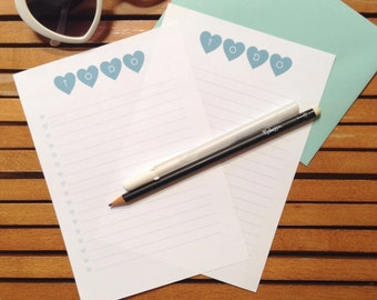 To Do List - Teal Hearts - Printable
