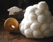 Domestic Targhee Undyed Combed Top Natural Wool Roving Spinning Felting fiber