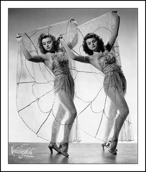 WILSON SISTERS, Maurice Seymour, 1940s, 16x20 inch print, restoration by Clyde Keller