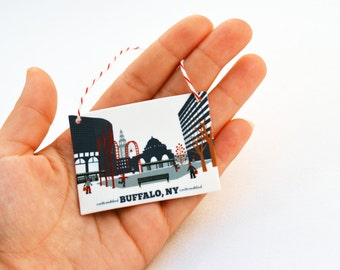 Buffalo, NY Main Street, Downtown Ornament, gift for him or her