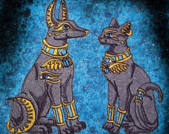 Anubis and Bastet Iron on Patches