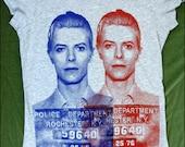 David Bowie Mugshot Women's tshirt
