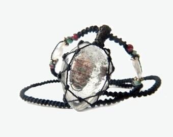 Tourmalinated Quartz Macrame Necklace- Your ENERGIZING stone