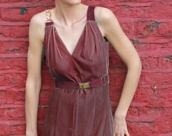 Severine Dusky Pink Velvet Dress