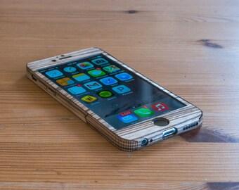 Zebrawood iPhone 6 / iPhone 6S Case - Single-Piece Wrap - Sleek Style