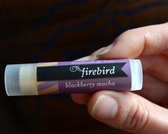 Blackberry Mocha Lip Balm - Coffee Lip Balm, Blackberry Lip Balm, Chocolate Lip Balm, Sweet Lip Balm, Handmade Lip Balm