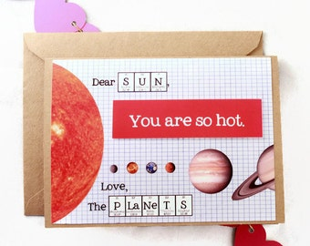 Schön Chemistry Science Valentines Day Card   Love Science Sun And Planets You  Are So Hot Card