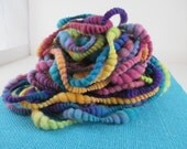 Art Happens I - Curvy Coiled Handspun Art Yarn - 22 yards