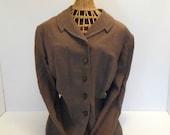 1940s Jacket Glen Haven Vintage Jacket  WWII era Brown Suit
