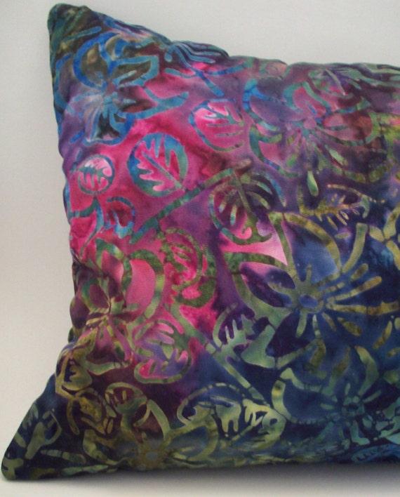 Decorative Throw Pillow Jewel Toned Lavender Buckwheat