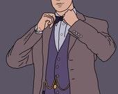 Doctor Who (Matt Smith) Mini Art Print