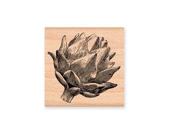ARTICHOKE-rubber stamp-wood mounted( sm 30-25)