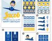 Airplane Birthday, Fighter Airplane Birthday, Airplane Party, Your Custom Photo, Party Collection, Party Kit