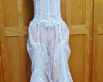 Corset Dress white lace beauty size S / M