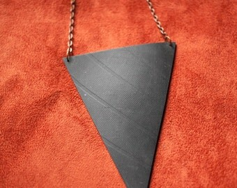 Big Triangle and Chain Necklace