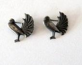 2 Silver Bird Pins Mexico 40s 50s Small Vintage Brooch