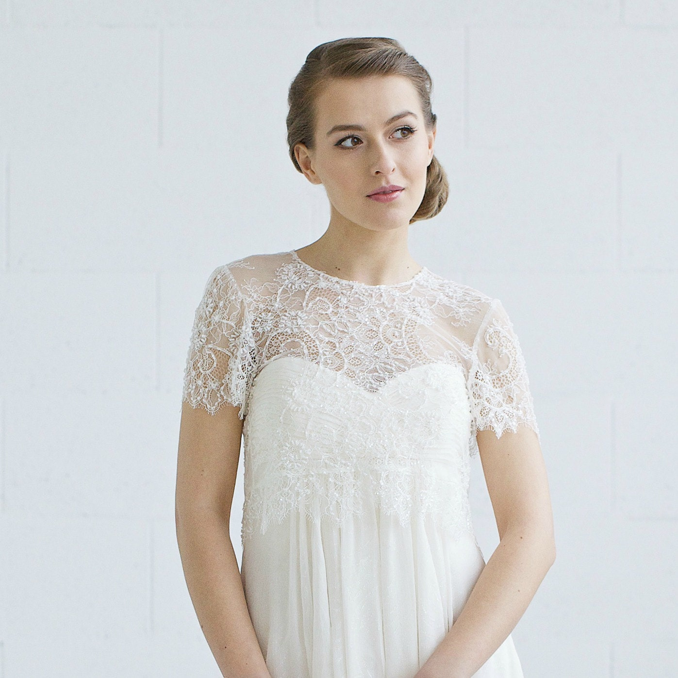 wedding cover up bridal lace top wedding by lavenderbyjurgita
