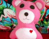 Pink Bear - Bear - Stuffie - Stuffed Animal - Plushie