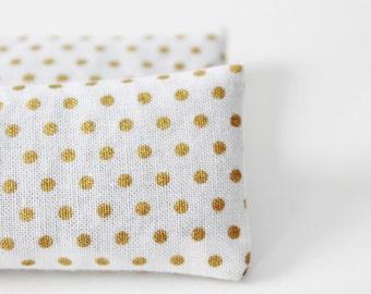 Organic Lavender Pillow Sachets, White & Gold Dot Sleep Sachets for Travel, Gifts for Mom