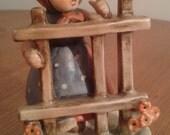 Goebel Hummel Signs of Spring Miniature Figurine 203 2/0 TMK-4, Porcelain, Germany
