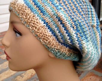By the Sea Knitted Beret/Slouch Hat