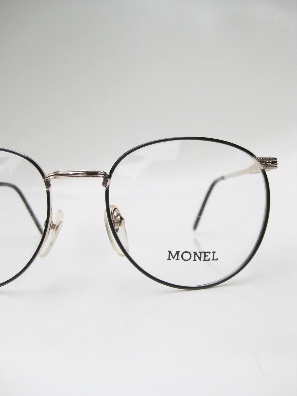 Eyeglasses Metal Frame : Vintage Round Eyeglasses Mens Womens Unisex Metal Frame Black