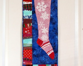 Quilted Wall Hanging - Christmas Stocking