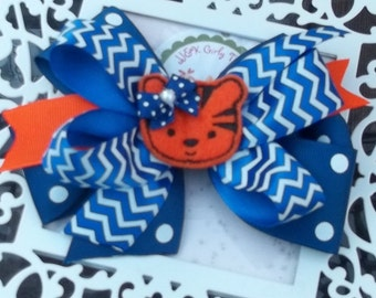 Little tiger game day hair bow