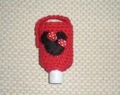 Hand Sanitizer Holder -- Red Minnie