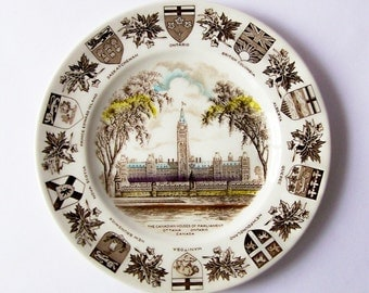 Vintage Woods & Sons CANADA Plate ~ Canadian Houses of Parliament ~ Collectible ~ Ottawa