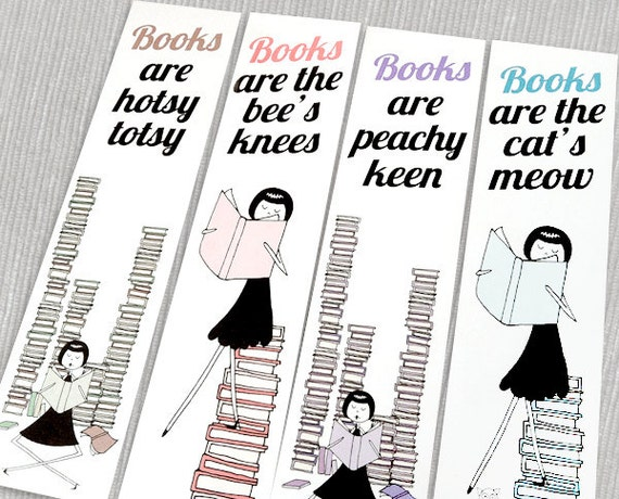 Bookmarks // 1920s flapper PDF Printables