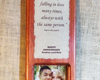 Personalized plaque photo frame Anniversary