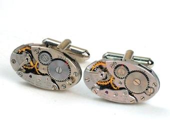 Steampunk Antique 1930's Waltham Watch Cuff Links
