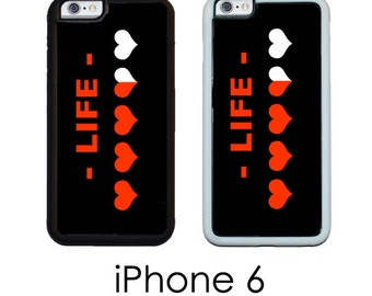 iPhone 6S 6 PLUS RPG Phone Case Life Meter 8 Bit RPG Trim Choice Hard Case , Rubber or Mighty Case