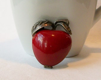 Vintage Apple Brooch