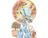 Holly Hobbie - Sarah Kay - no2 - A4 Digital Collage Sheet - Printable - For unlimited number of prints