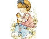 Holly Hobbie - Sarah Kay - no6 - A4 Digital Collage Sheet - Printable - For unlimited number of prints