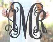 Personalized Rustic Wood Monogrammed Sign by Morgann Hill Designs #MorgannHillDesigns #BraggingBags (Item Number MHD20240)