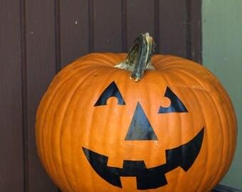 Halloween Pumpkin Decals. Home Decor. Set of 8 Face Stickers for Pumpkins!