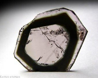 Rare Lavender Tourmaline var. Liddicoatite, Large Polished Slice // Third Eye Chakra // Crystal Healing // Mineral Specimen