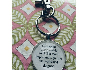 Minor Myers Jr custom quote keychain