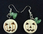 White Pumpkin Dangle Earrings